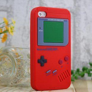 เคสไอโฟน 4/4s (ซิลิโคน) Game Boy สีแดง