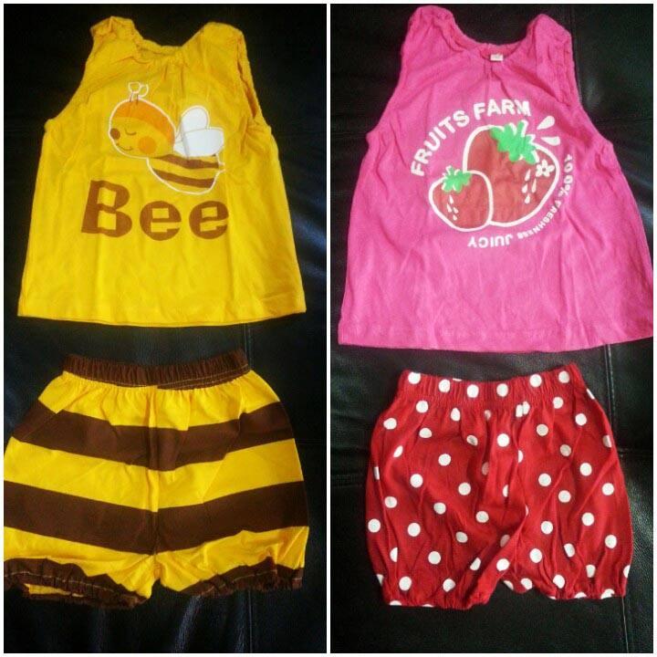 ชุดหนูน้อย Summer Collection ลายผึ้ง