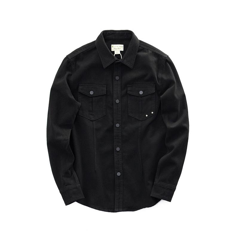 *Pre Order*เสื้อเชิ้ตแขนยาว Denim Japan ฝ้าย 95% size M,L