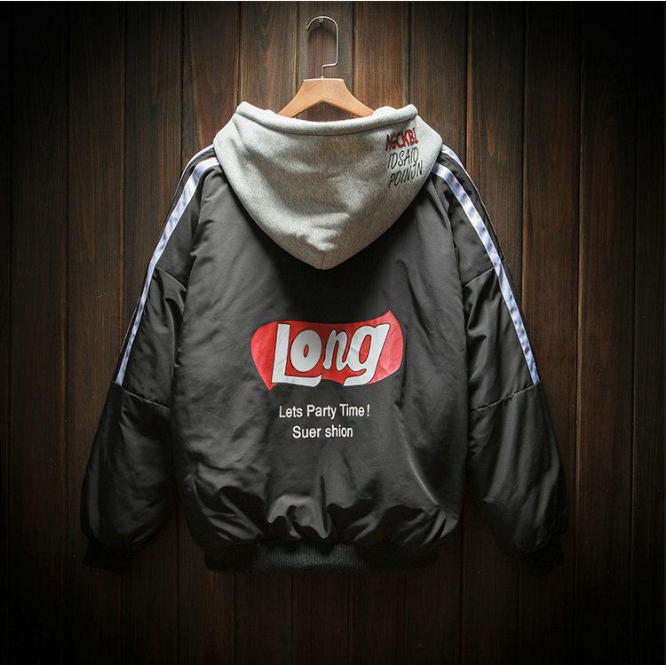 *Pre Order*Winter hooded jacket Men's plus (บุหนา)แฟชั่นญี่ปุ่น size M-5XL