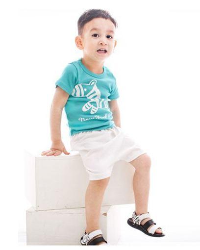 ชุดเซ็ทเด็กชาย มาใหม่ สไตล์เกาหลี เสื้อ+กางเกงสกีนลายม้าลาย แบบเก๋ น่ารัก ผ้า เนื้อนุ่ม ใส่สบาย