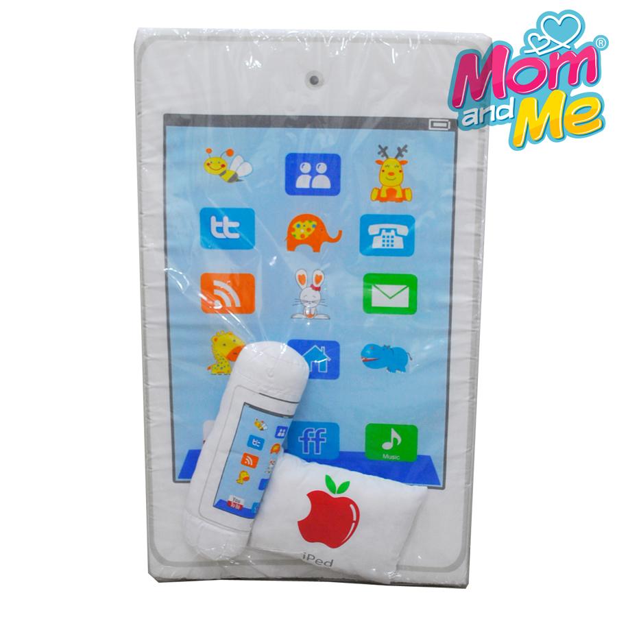 เบาะที่นอนฟองน้ำ รูป iPad พร้อมหมอนและหมอนข้าง