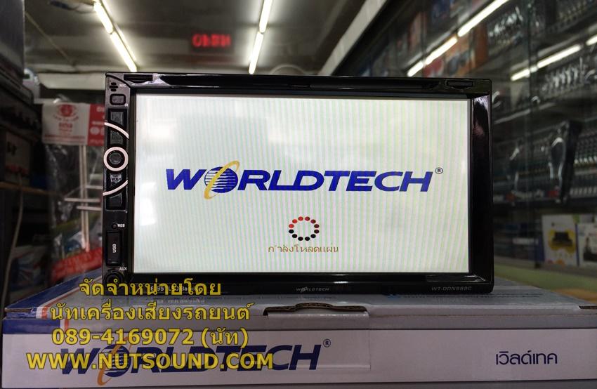 วิทยุติดรถยนต์ 2 DIN 6.95 นิ้ว ยี้ห้อ WORLDTECH