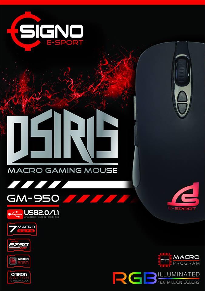 Signo GM-950 OSIRIS Macro Gaming Mouse