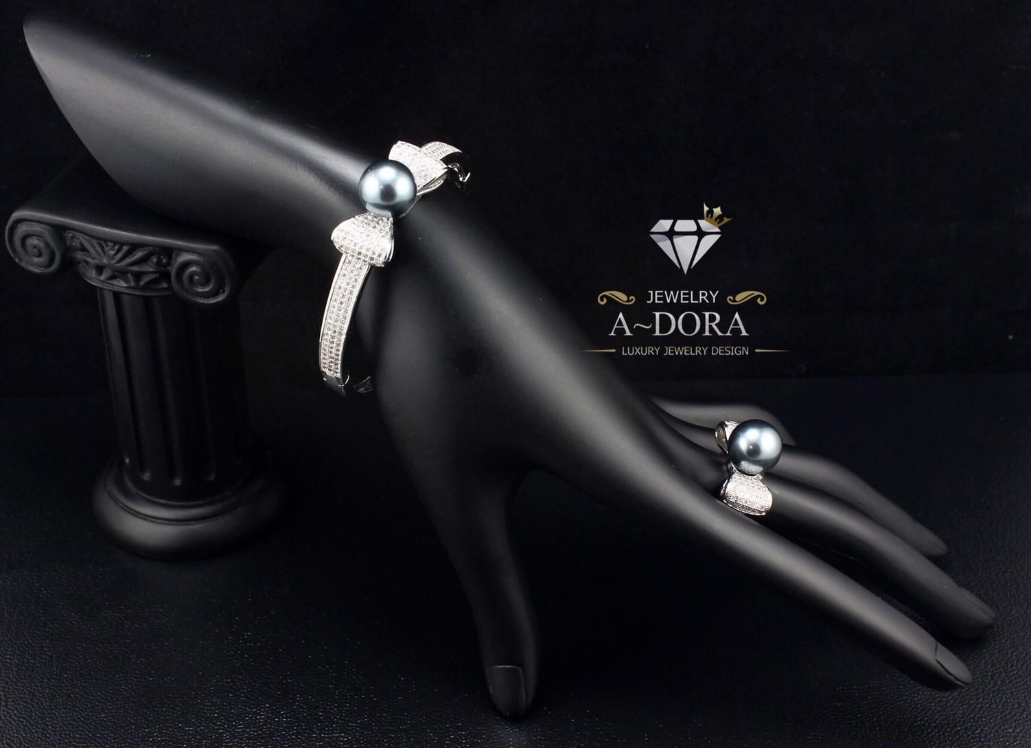 พร้อมส่ง ~ Bracelet+Ring+Earring Setงานเพชร CZ แท้งานเกรดไฮเอนค่ะ เพชร CZ