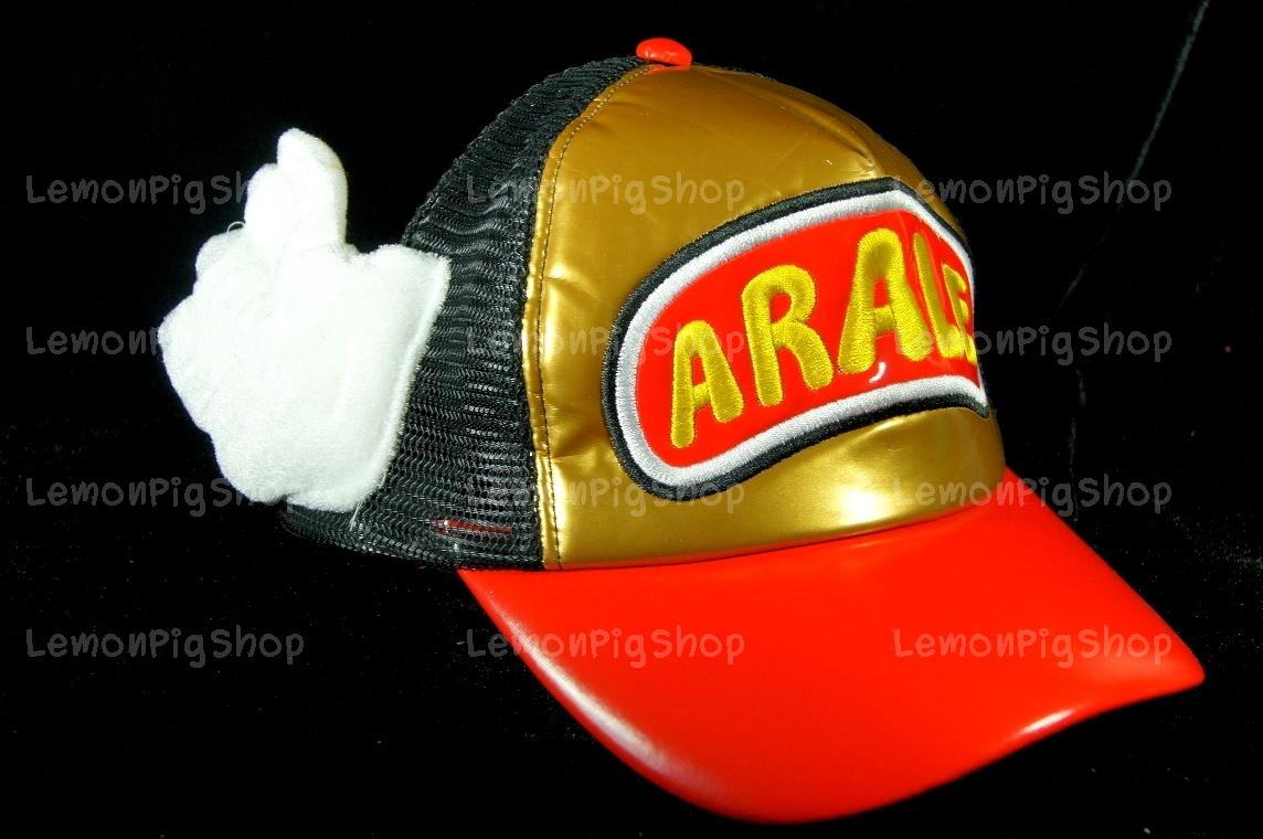 หมวก ARALE อาราเล่ หนังแก้ว สีทอง - แดง