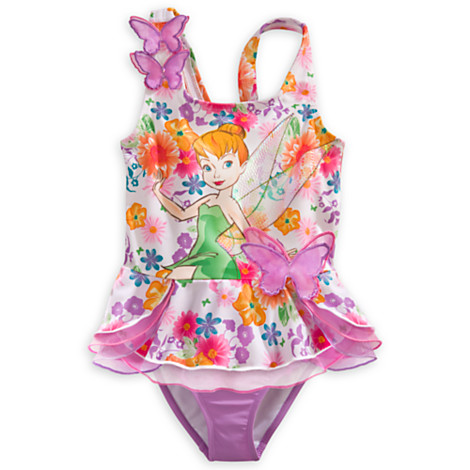 z Tinkerbell deluxe swimsuit for girls(size 5/6)(18/24 month)(พร้อมส่ง)