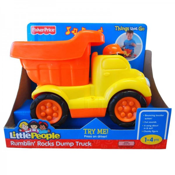 z Fisher Price Little People Rumblin Rocks Dump Truck.