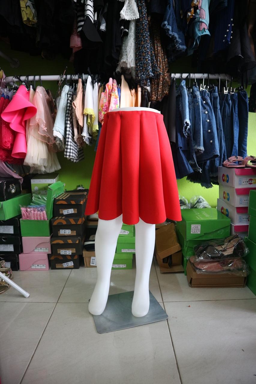 กระโปรงเด็กสีแดง PinkIeal