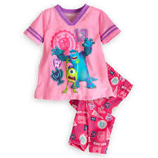z Mike and Sulley Sleep Set for Girls - Monsters University(size 4)(พร้อมส่ง)