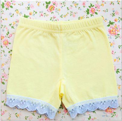 กางเกงขาสั้นซับใน สีเหลือง PinkIdeal