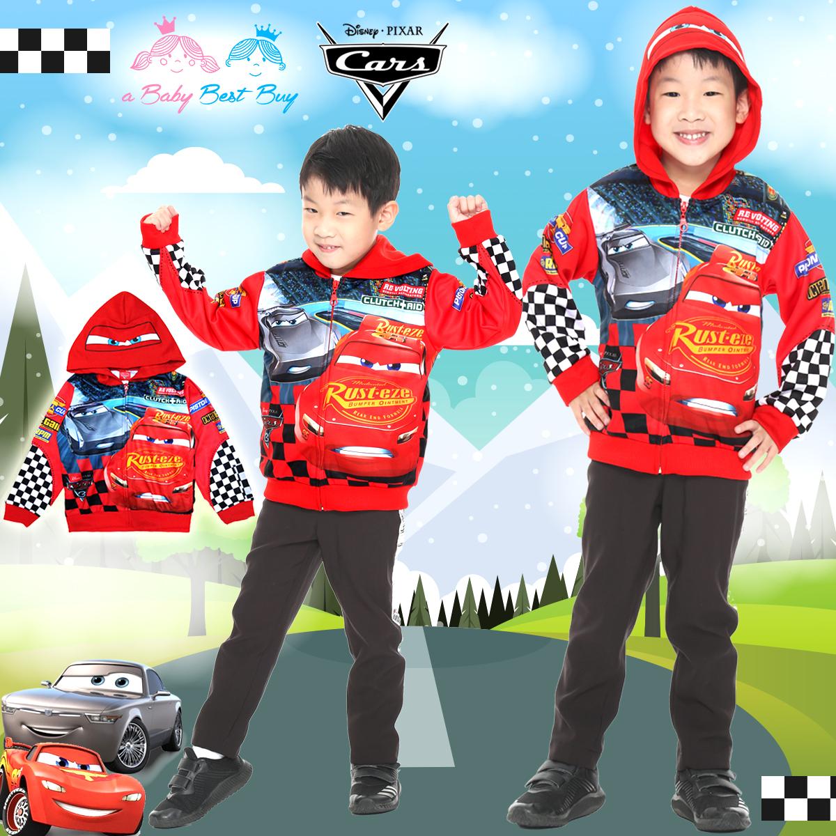 """"""" ( Size S-M-L """" เสื้อแจ็คเก็ต Jacket Disney Cars เสื้อกันหนาว เด็กผู้ชายสีแดง สกรีนลาย คาร์ รูดซิป มีหมวก(ฮู้ด) ใส่คลุมกันหนาว กันแดด ใส่สบาย ดิสนีย์แท้ ลิขสิทธิ์แท้"""