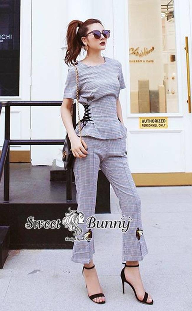 ชุดเซทแฟชั่น ชุดเซ็ทเสื้อ+กางเกงปักงานเกาหลี ผ้าทอเนื้อนุ่ม