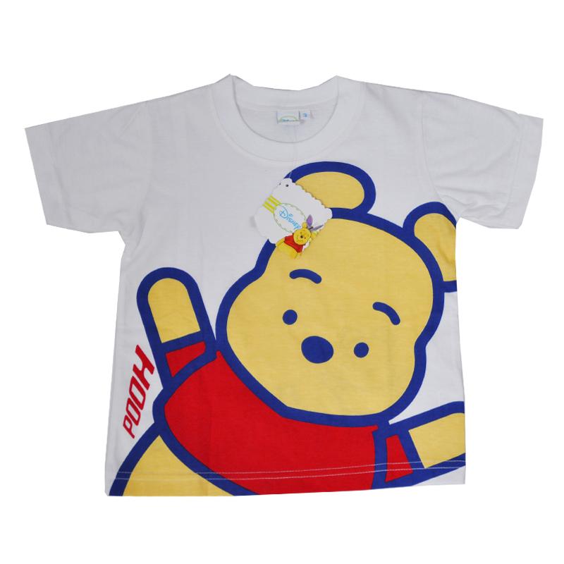เสื้อยืดหมีพูห์ Pooh สีขาวแขนสั้น น่ารักมากค่ะ Size 1 - 3