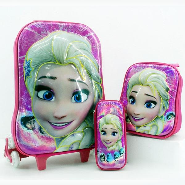 กระเป๋าล้อลากลายการ์ตูน เซ็ตสุดคุ้ม 3 ใบ เจ้าหญิงแอลซ่า