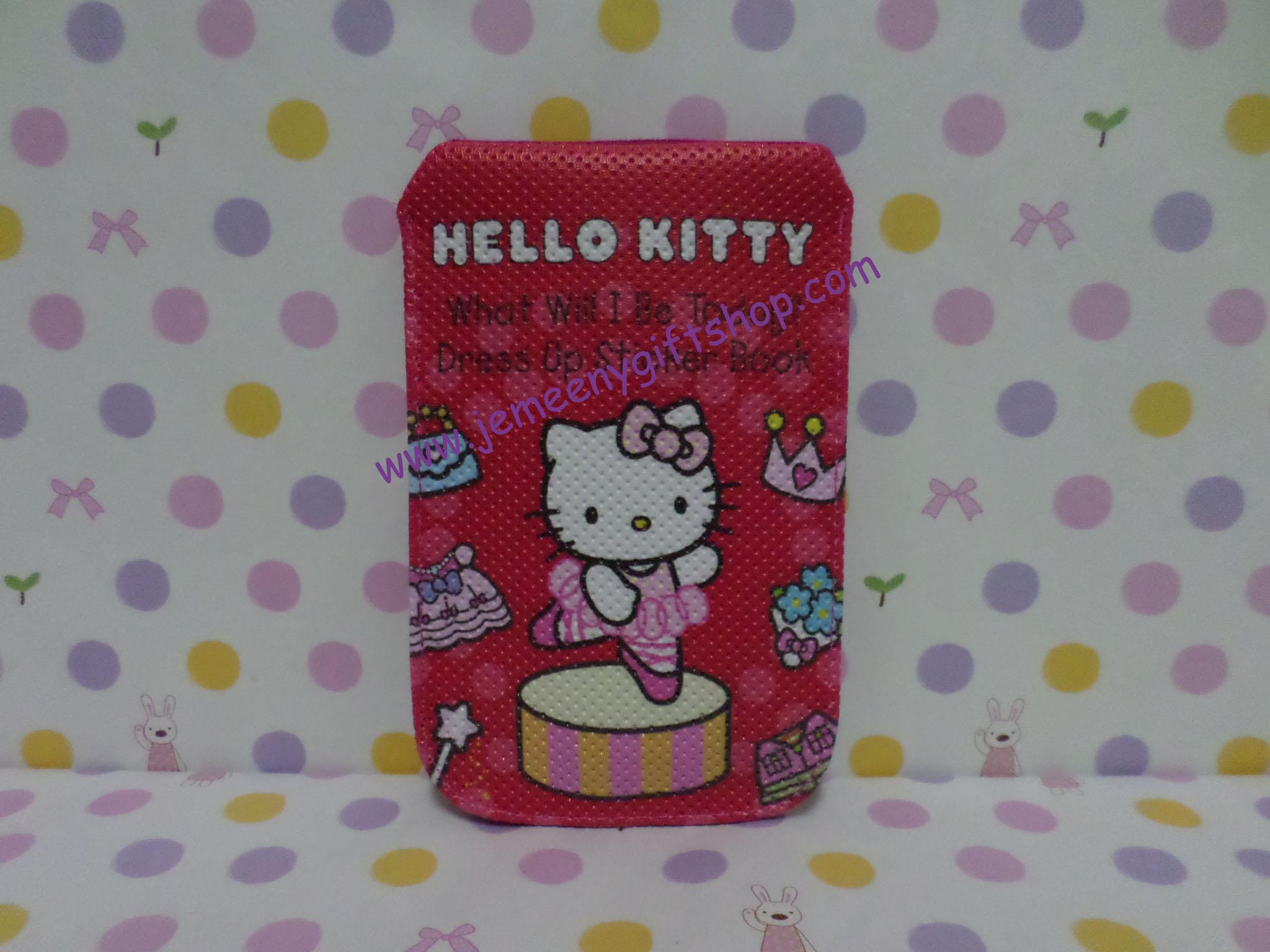 ซองหนังใส่โทรศัพท์มือถือ ฮัลโหลคิตตี้ Hello kitty#2 ขนาดยาว 8 ซม. * สูง 13 ซม. พิมพ์ลายคิตตี้โบว์ชมพูเต้นบัลเล่ พื้นชมพูเข้ม