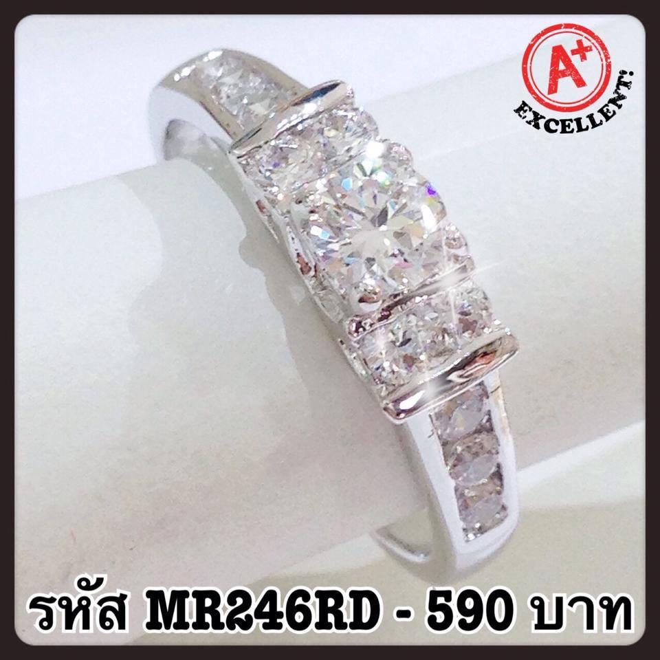 แหวนเพชร CZ รหัส MR246RD size 48
