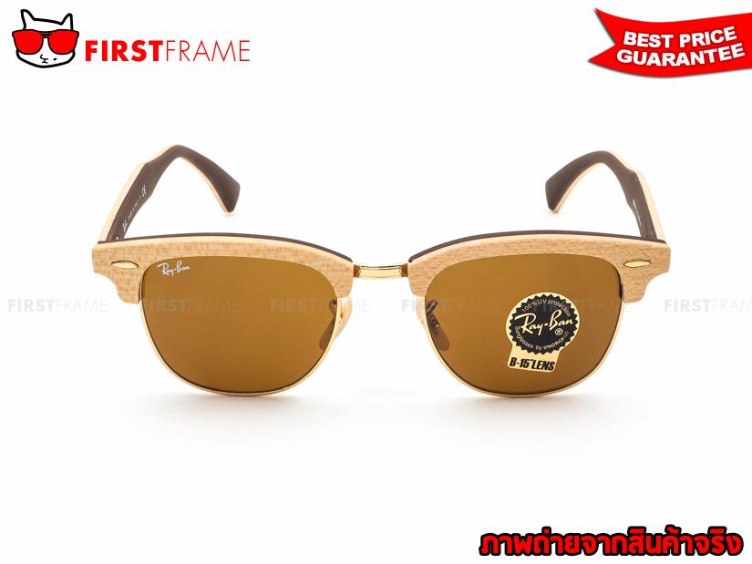 แว่นกันแดด RayBan RB3016M 1179 CLUBMASTER WOOD2