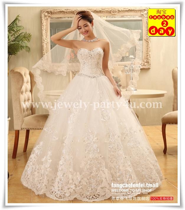 wedding ชุดแต่งงานเจ้าสาวแสนสวย ตกแต่งด้วยผ้าลูกไม้และจิวเวลรี่ สวยงามมากค่ะ