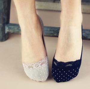 เซตดำ-เนื้อ ถุงเท้าทรงเรือใบ ใส่กับรองเท้าได้ไม่โชว์ถุงเท้า