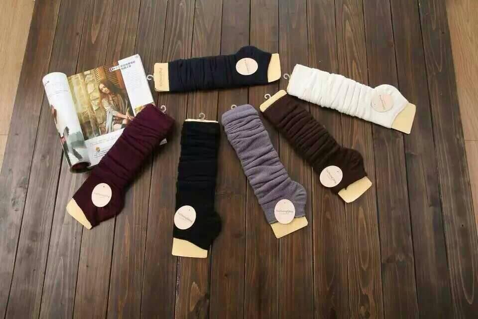 S524**พร้อมส่ง** (ปลีก+ส่ง) ถุงขา ข้อยาว แฟชั่นเกาหลี คละสี มี 12 คู่ต่อแพ็ค เนื้อดี งานนำเข้า(Made in China)