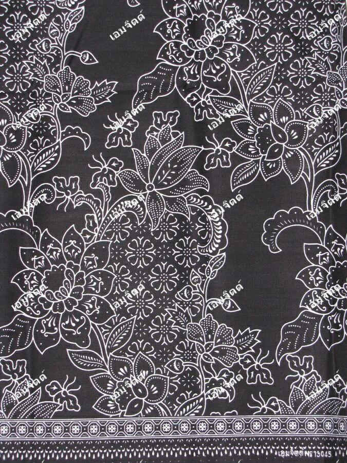 ผ้าถุงขาวดำ ec13045bk