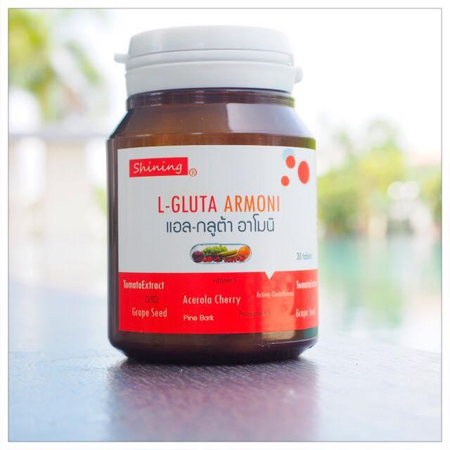 Shining L-gluta Armoni แอล-กลูต้า อาโมนิ วิตามินเร่งขาว ดีกว่าวิตามินซีทั่วไป 10 เท่า