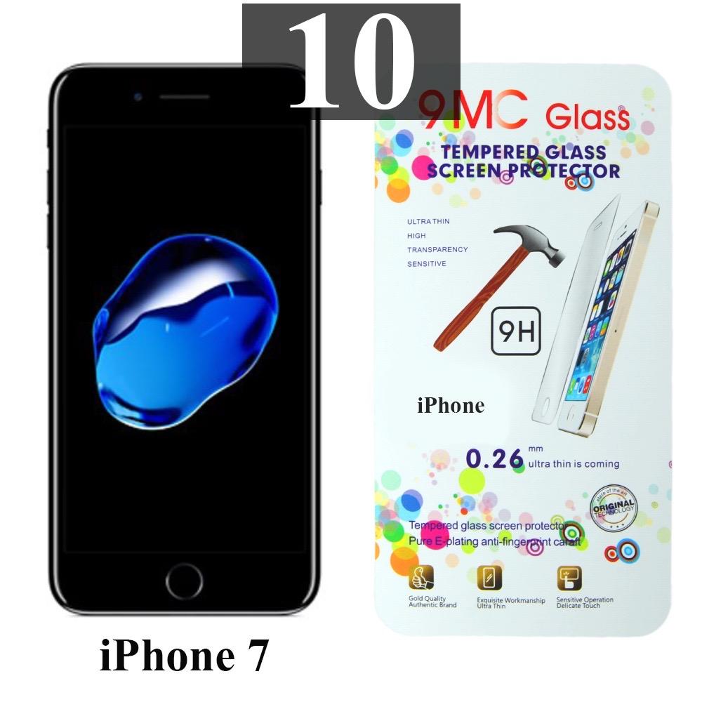 ฟิล์มกระจก iPhone 7 9MC แผ่นละ 31 บาท (แพ็ค 10)