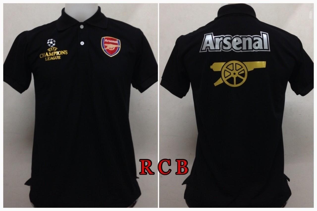 เสื้อโปโล อาร์เซนอล สีดำ RCB