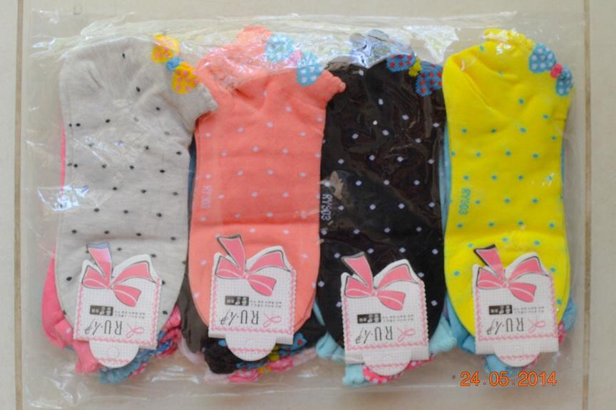 S207**พร้อมส่ง** (ปลีก+ส่ง) ถุงเท้าแฟชั่นเกาหลี ข้อสั้น เนื้อดี งานนำเข้า(Made in China)