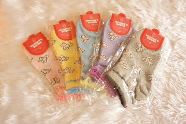 ถุงเท้าเกาหลีลายหมีเทดดี้สุดน่ารัก มี 5 สี [ขนาดเท้า35-38]