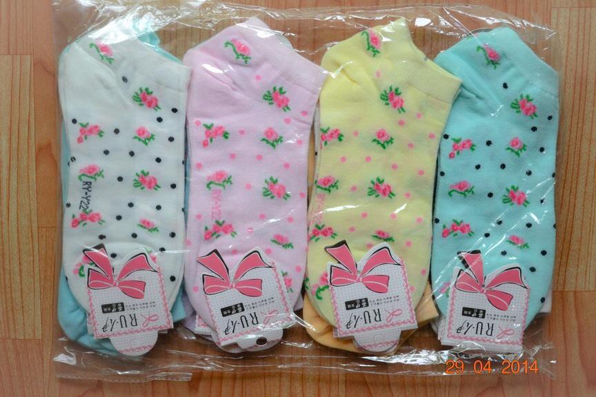 S202**พร้อมส่ง** (ปลีก+ส่ง) ถุงเท้าแฟชั่นเกาหลี ข้อสั้น เนื้อดี งานนำเข้า(Made in China)