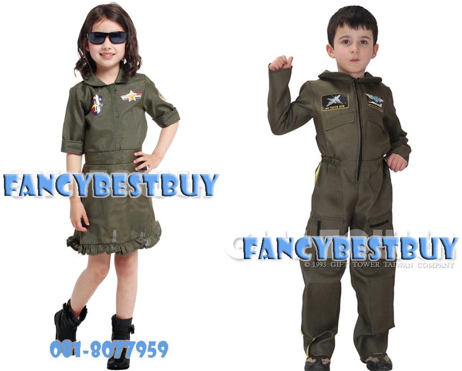 ชุดแฟนซีทหารอากาศคู่ สำหรับเด็กชาย และ เด็กหญิง Airforce Boy & Girl มีขนาด M, L, XL