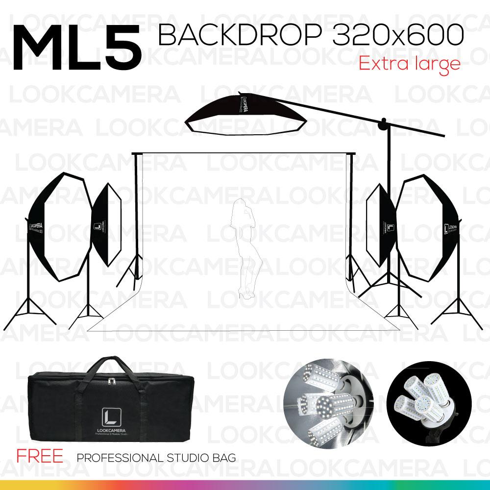 ML5 320x600 WIDE ถ่ายเสื้อผ้านางแบบ และ สินค้าขนาดใหญ่ ไฟกำลังสูง
