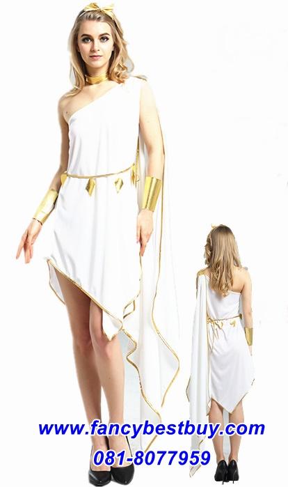 ชุดแฟนซีประจำชาติกรีกโรมัน สำหรับผู้หญิง สำหรับใช้เป็นชุดประจำชาติอาณาจักรกรีกโรมัน