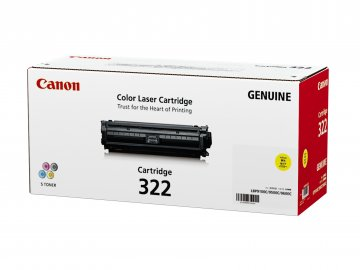 Canon Cartridge-322Y ตลับหมึกโทนเนอร์ สีเหลือง Yellow Original Toner Cartridge