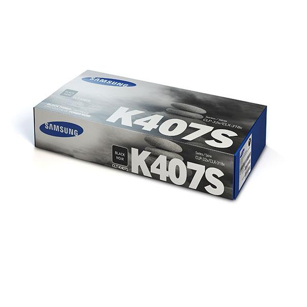 Samsung CLT-K407S ตลับหมึกโทนเนอร์ สีดำ ของแท้ Black Original Toner Cartridge (SU132A)