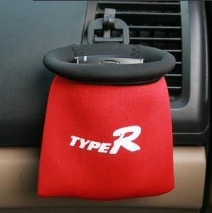 Phone Pocket (ถุงผ้าใส่ของภายในรถยนต์) สีแดง ขนาด 11CMx11CM
