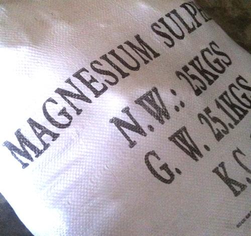 แมกนีเซียมซัลเฟต (MgSO4) 25 ก.ก.