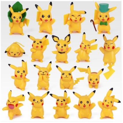 POKEMON : Pikachu Figure (Set of 18)
