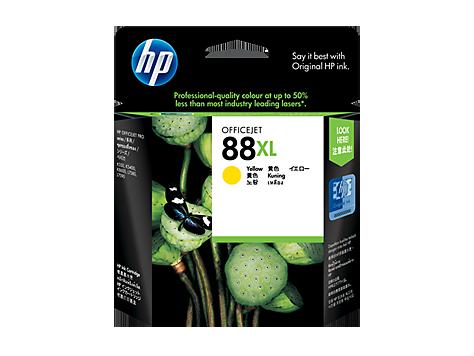 HP 88XL ตลับหมึกอิงค์เจ็ท สีเหลือง High Yield Yellow Original Ink Cartridge (C9393A)