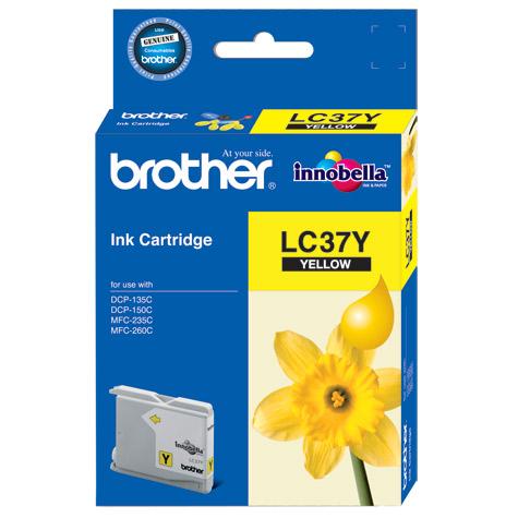 Brother LC-37Y ตลับหมึกอิงค์เจ็ท สีเหลือง Yellow Original Ink Cartridge