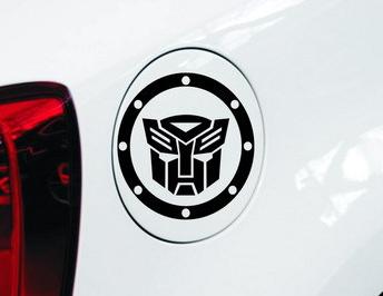สติ๊กเกอร์แปะฝาถังน้ำมันรถ Transformer สีดำ (11x11 CM)