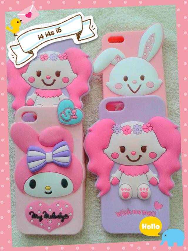 เคส Iphone 5 ลาย Wish me mell,My melody น่ารักทุกตัวจ้า