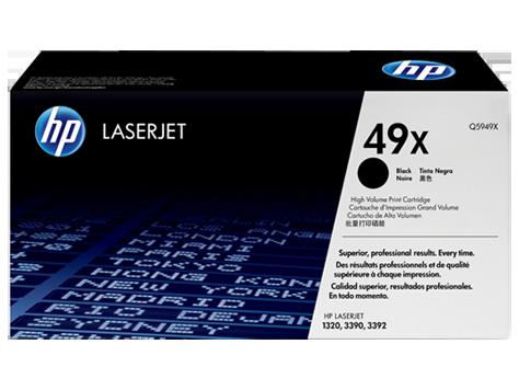 HP 49X ตลับหมึกโทนเนอร์ สีดำ ของแท้ Black Original Toner Cartridge (Q5949X)
