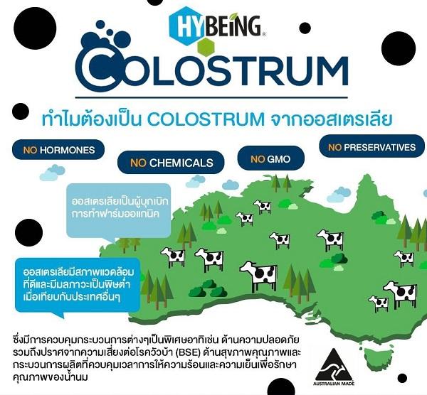 hybeing colostrum โคลอสตรุ้ม