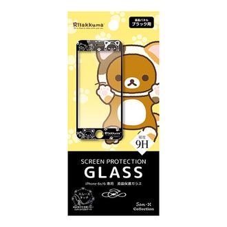 กระจกกันรอย iPhone 6/6S Rilakkuma (cat) สีดำ