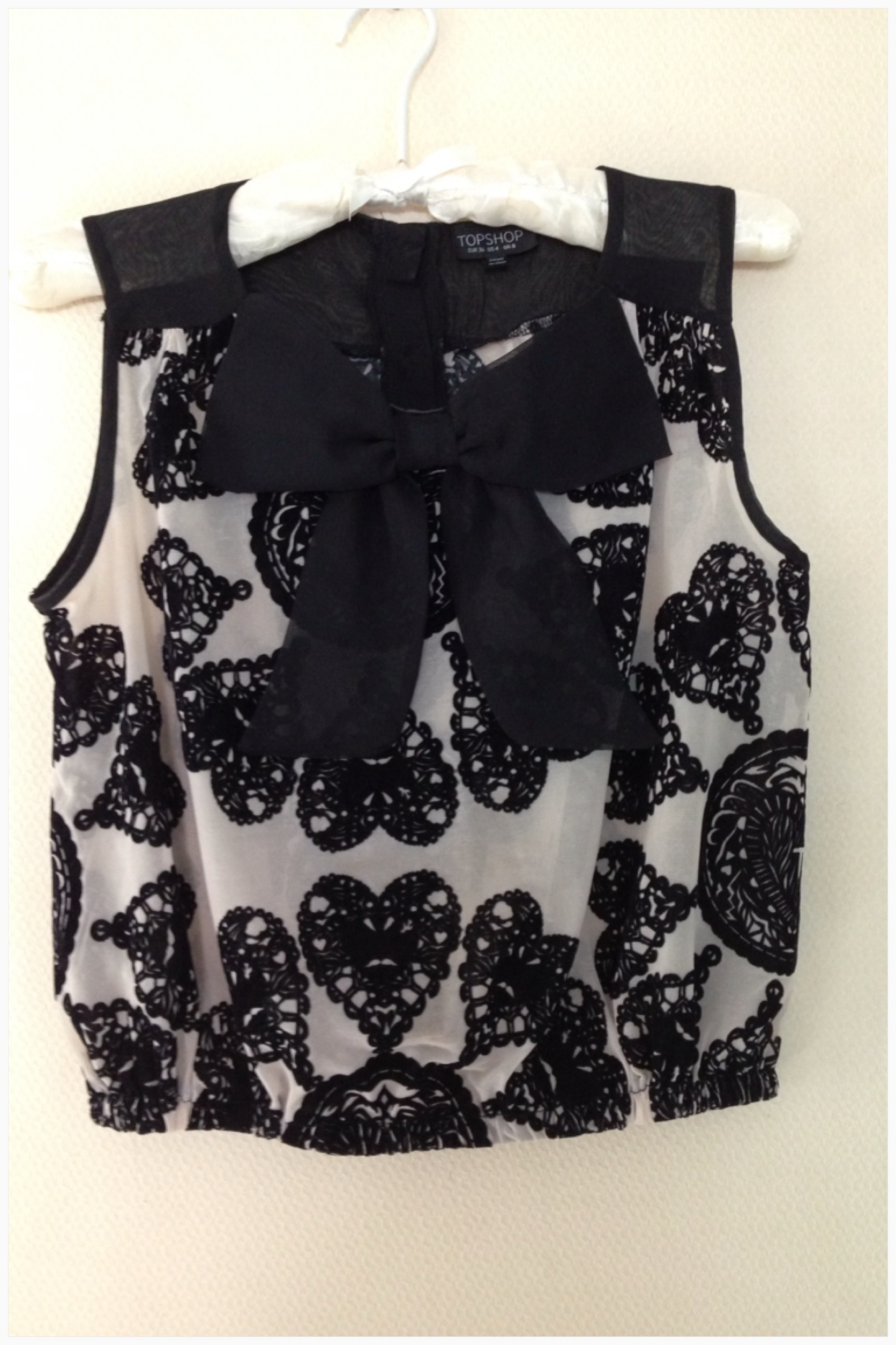 Topshop bow Top size uk 8