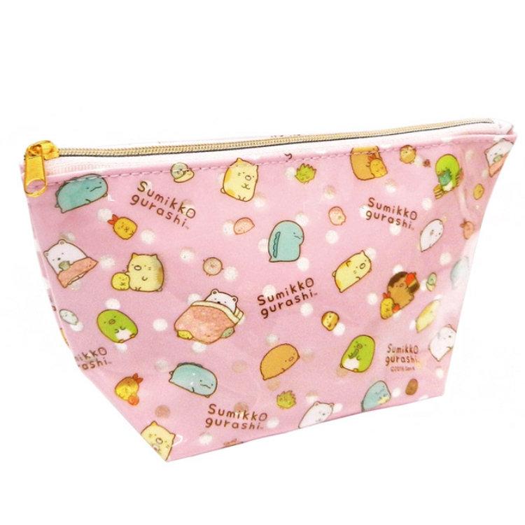 กระเป๋าใส่ของ Sumikko Gurashi สีชมพู