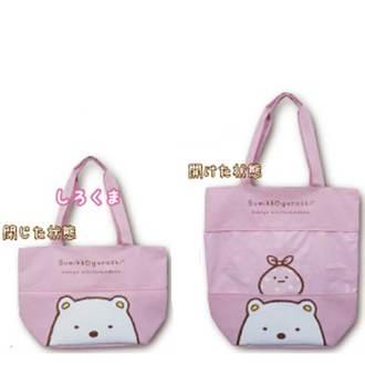 กระเป๋าขยายได้ใบใหญ่ Sumikko Gurashi หมีขาว